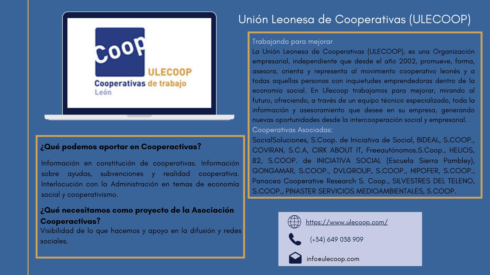 Ulecoop, Unión Leonesa de Cooperativas